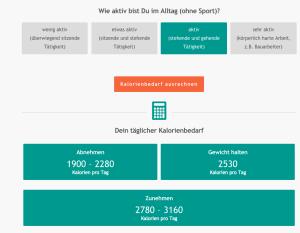 Kalorienbedarfsrechner | einfach-fit.de